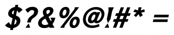 Barbica Bold Italic Font OTHER CHARS