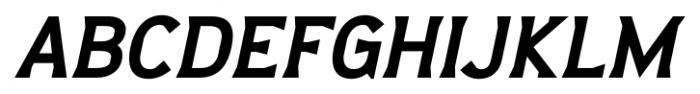 Barbica Bold Italic Font UPPERCASE