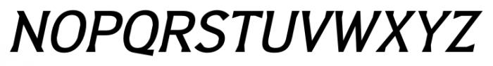 Barbica Medium Italic Font UPPERCASE