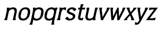 Barbica Medium Italic Font LOWERCASE