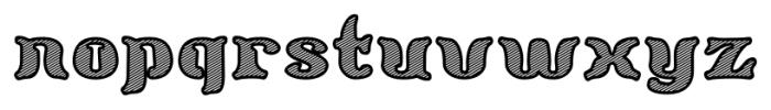 Barollo Shaded Font LOWERCASE