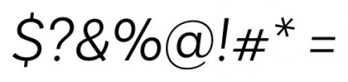 Basic Sans Alt Light Italic Font OTHER CHARS