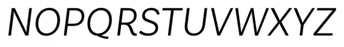 Basic Sans Alt Light Italic Font UPPERCASE