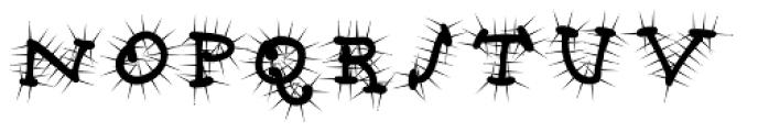 Babine Cactus Font UPPERCASE