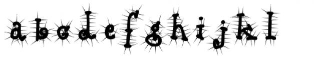 Babine Cactus Font LOWERCASE