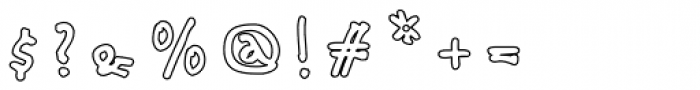 Babine Outline Font OTHER CHARS