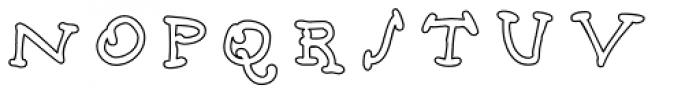 Babine Outline Font UPPERCASE