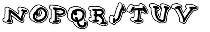 Babine Stroke Font UPPERCASE