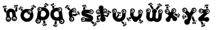 Baby Lyns ABC dance Font LOWERCASE