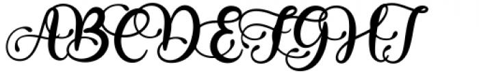Babylone Script Regular Font UPPERCASE