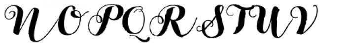 Bach Script Bold Font UPPERCASE