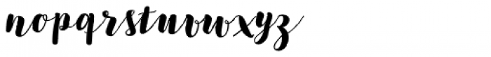 Bach Script Bold Font LOWERCASE
