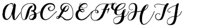 Bach Script Font UPPERCASE