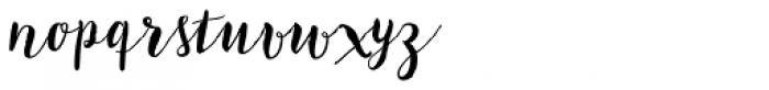 Bach Script Font LOWERCASE