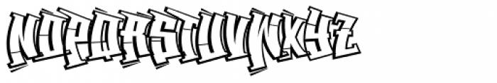 Back Spin Outline Font UPPERCASE