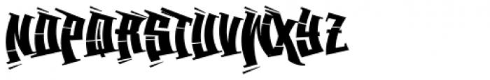 Back Spin Outline Font LOWERCASE