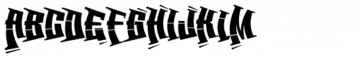 Back Spin Font LOWERCASE