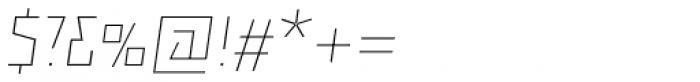 Backstein Alternates Thin Italic Font OTHER CHARS