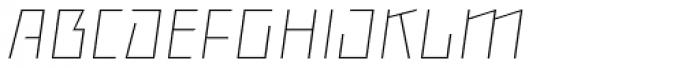 Backstein Alternates Thin Italic Font UPPERCASE