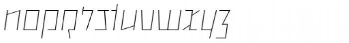 Backstein Alternates Thin Italic Font LOWERCASE