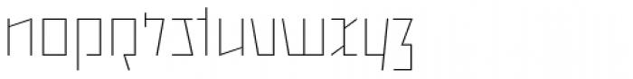 Backstein Alternates Thin Font LOWERCASE