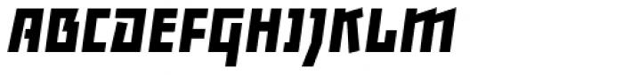 Backstein Bold Italic Font UPPERCASE
