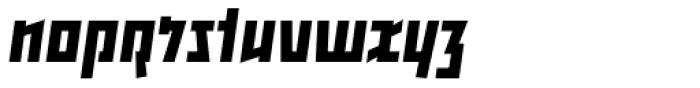 Backstein Bold Italic Font LOWERCASE