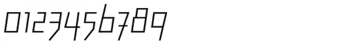Backstein UltraLight Italic Font OTHER CHARS