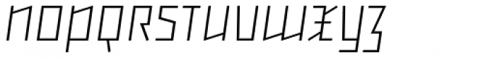Backstein UltraLight Italic Font UPPERCASE