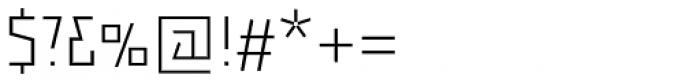 Backstein UltraLight Font OTHER CHARS
