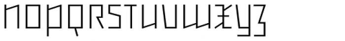 Backstein UltraLight Font UPPERCASE