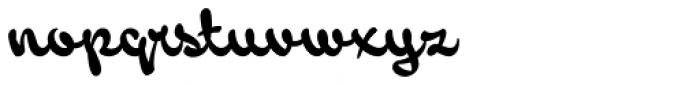 Backstroke Regular Font LOWERCASE