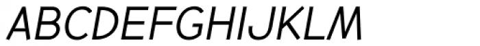 Backtalk Sans BTN Short Cap Oblique Font LOWERCASE