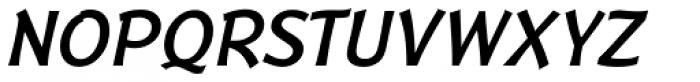 Badger Medium Italic Font UPPERCASE