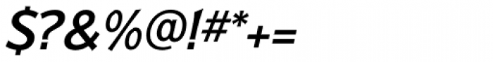 Badger Pro Medium Italic Font OTHER CHARS