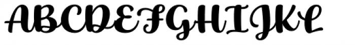 Baguet Script Bold Font UPPERCASE