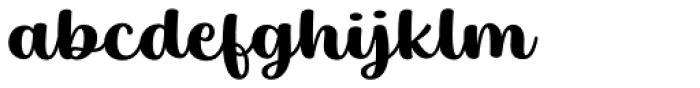 Baguet Script Bold Font LOWERCASE