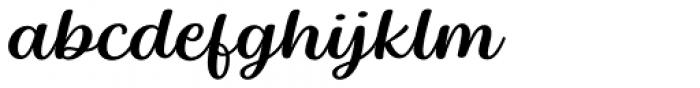 Baguet Script Regular italic Font LOWERCASE