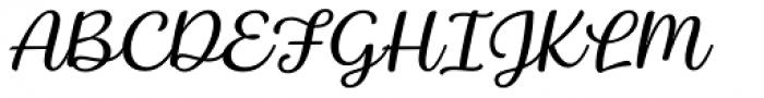 Baguet Script Thin italic Font UPPERCASE