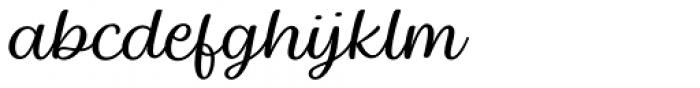 Baguet Script Thin italic Font LOWERCASE