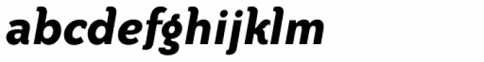 Bailey Sans Bold Italic Font LOWERCASE