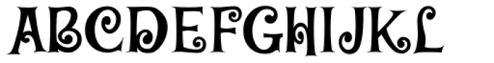 Baileywick Curly JF Font UPPERCASE