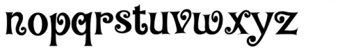 Baileywick Curly JF Font LOWERCASE