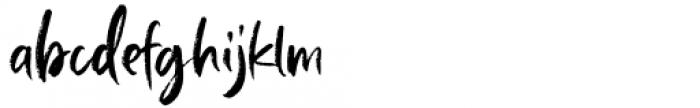 Baille Simpson Regular Font LOWERCASE