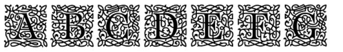 Bajka Symbols and Ornaments Font UPPERCASE