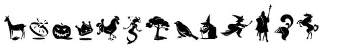 Bajka Symbols and Ornaments Font LOWERCASE