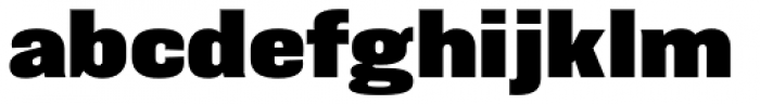 Balboa ExtraBlack Font LOWERCASE