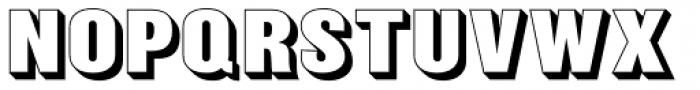 Balboa Shaded Bold Font LOWERCASE