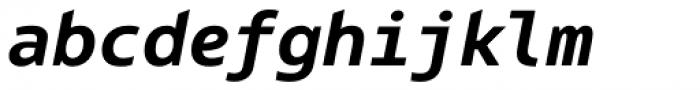Bale Mono Bold Italic Font LOWERCASE
