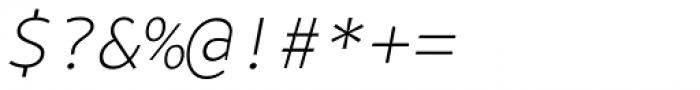 Bale Mono Thin Italic Font OTHER CHARS